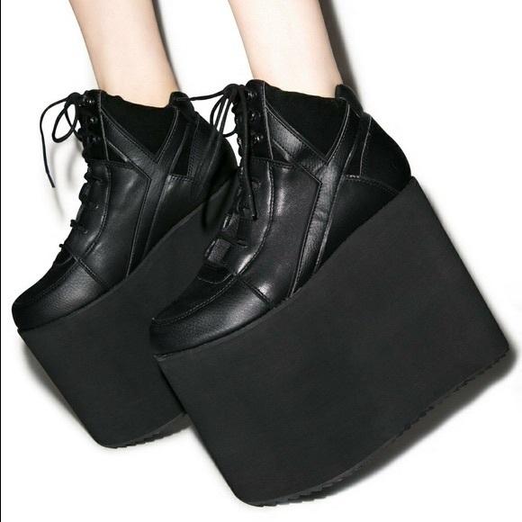 YRU Shoes | Yru Qozmo Sky Hi Black